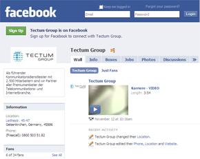 tectum sucht mitarbeiter via facebook callcenterprofi. Black Bedroom Furniture Sets. Home Design Ideas