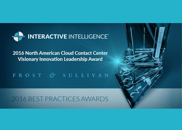 "Frost & Sullivan ""Cloud Contact Center Award"" für ..."